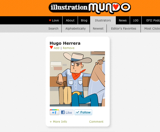 Hugo Herrera in illustrationmundo.com