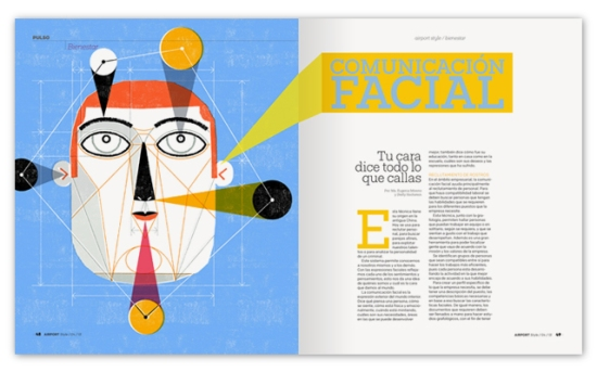 Airport Style Magazine, Illustration: Facial Communication