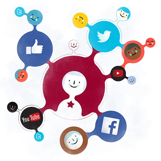 Femsa Informa Magazine, Cover Illustration: Our Social Media Management