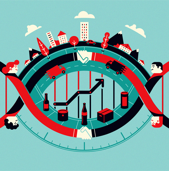 Femsa Informa Magazine, llustration: Business DNA