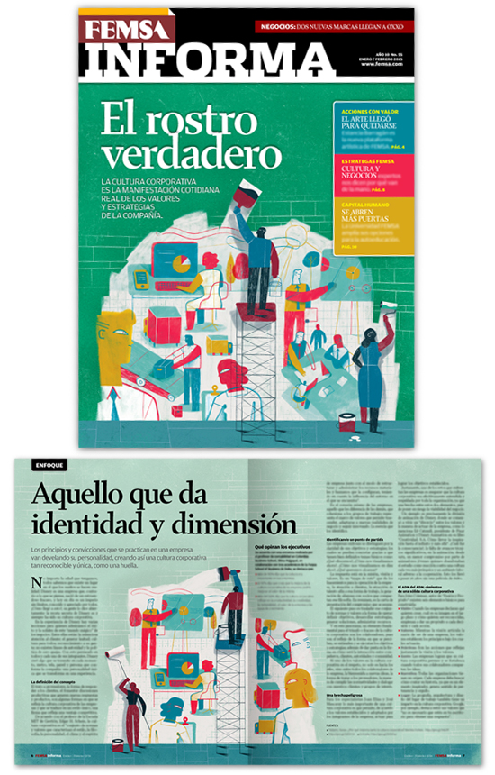 Femsa Informa Magazine 55, Illustration: Corporate Culture, The True Face