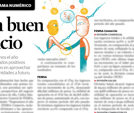 Femsa Informa Magazine #56, Spot lllustration: A Good Start
