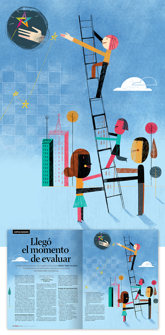 Femsa Informa Magazine #60, llustration: It's Time To Evaluate